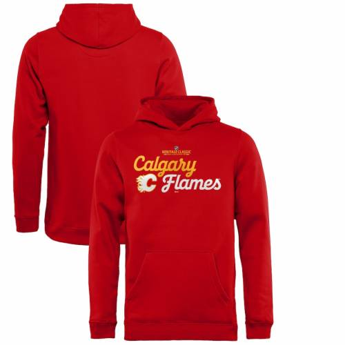 FANATICS BRANDED 子供用 クラシック 赤 レッド キッズ ベビー マタニティ トップス ジュニア 【 Calgary Flames Youth 2019 Heritage Classic Mosaic Pullover Hoodie - Red 】 Red