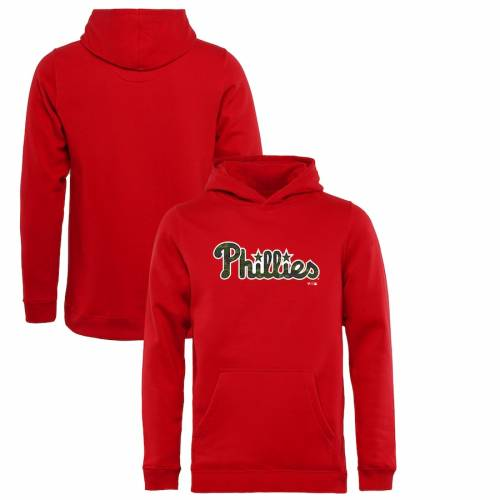 FANATICS BRANDED フィラデルフィア フィリーズ 子供用 赤 レッド キッズ ベビー マタニティ トップス ジュニア 【 Philadelphia Phillies Youth Armed Forces Wordmark Pullover Hoodie - Red 】 Red