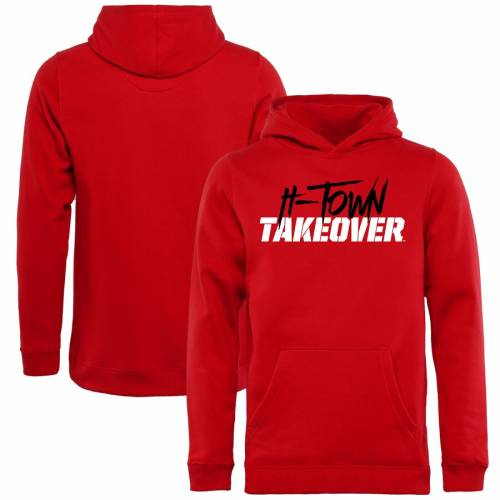 FANATICS BRANDED ヒューストン 子供用 赤 レッド キッズ ベビー マタニティ トップス ジュニア 【 Houston Cougars Youth H-town Takeover Pullover Hoodie - Red 】 Red