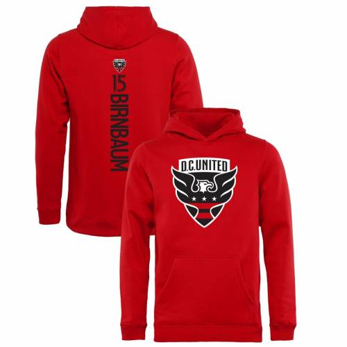 FANATICS BRANDED 子供用 赤 レッド D.c. キッズ ベビー マタニティ トップス ジュニア 【 Steven Birnbaum D.c. United Youth Backer Name And Number Pullover Hoodie - Red 】 Red