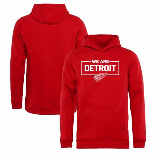 FANATICS BRANDED デトロイト 赤 レッド 子供用 コレクション キッズ ベビー マタニティ トップス ジュニア 【 Detroit Red Wings Youth Iconic Collection We Are Pullover Hoodie - Red 】 Red