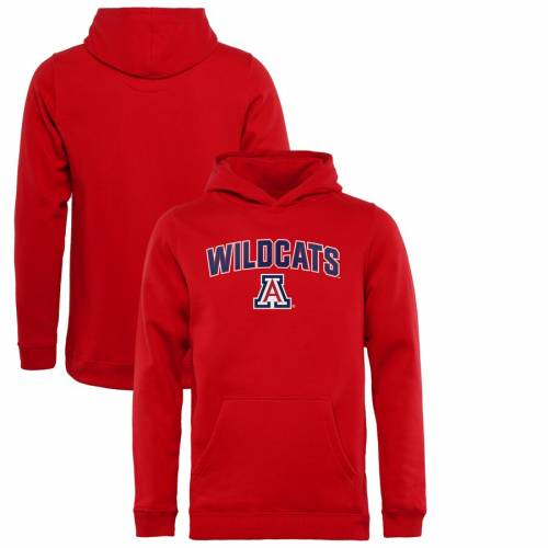 FANATICS BRANDED アリゾナ 子供用 赤 レッド キッズ ベビー マタニティ トップス ジュニア 【 Arizona Wildcats Youth Proud Mascot Pullover Hoodie - Red 】 Red