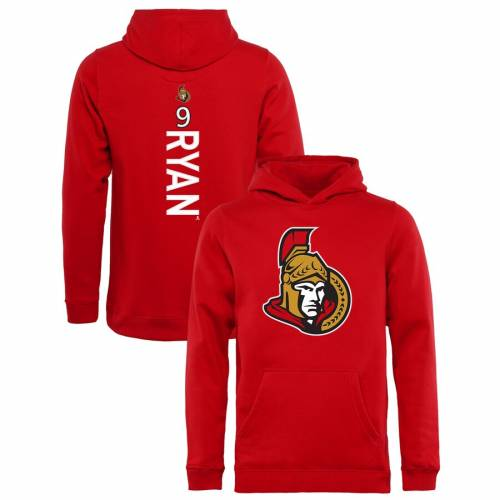 FANATICS BRANDED 子供用 赤 レッド キッズ ベビー マタニティ トップス ジュニア 【 Bobby Ryan Ottawa Senators Youth Backer Pullover Hoodie - Red 】 Red
