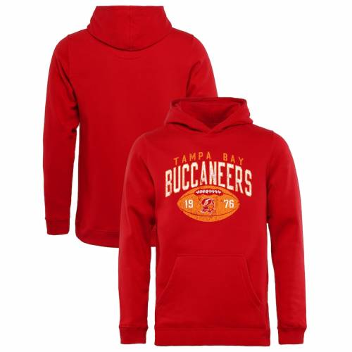 NFL PRO LINE BY FANATICS BRANDED バッカニアーズ 子供用 コレクション コイン 赤 レッド キッズ ベビー マタニティ トップス ジュニア 【 Tampa Bay Buccaneers Youth Throwback Collection Coin Toss Pullover Hoodie