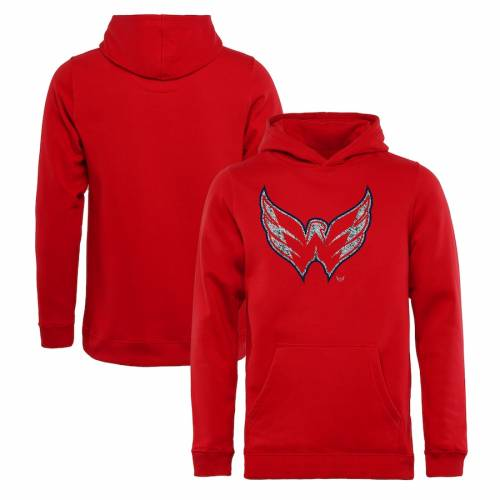 FANATICS BRANDED ワシントン 子供用 ロゴ 赤 レッド キッズ ベビー マタニティ トップス ジュニア 【 Washington Capitals Youth Static Logo Pullover Hoodie - Red 】 Red