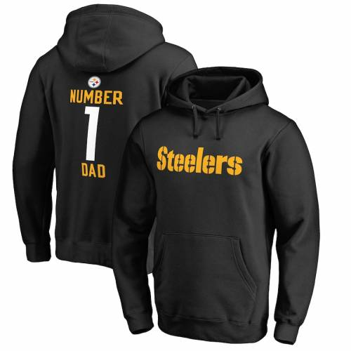 NFL PRO LINE BY FANATICS BRANDED ピッツバーグ スティーラーズ 黒 ブラック メンズファッション トップス パーカー メンズ 【 Pittsburgh Steelers Big And Tall Number 1 Dad Pullover Hoodie - Black 】 Black