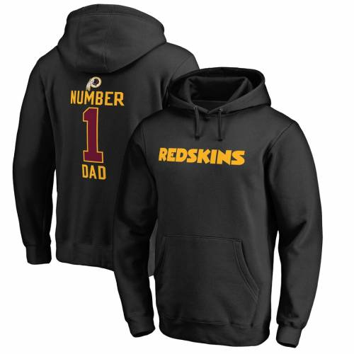 NFL PRO LINE BY FANATICS BRANDED ワシントン レッドスキンズ 黒 ブラック メンズファッション トップス パーカー メンズ 【 Washington Redskins Fanatics Branded Number 1 Dad Big And Tall Pullover Hoodie - Black 】 Bl