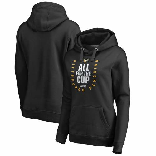 FANATICS BRANDED ピッツバーグ レディース ネット WOMEN'S 【 PITTSBURGH PENGUINS 2018 STANLEY CUP PLAYOFFS BOUND BEHIND THE NET PULLOVER HOODIE BLACK 】 レディースファッション トップス パーカー 送料無料