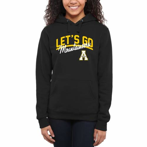 FANATICS BRANDED スケートボード レディース WOMEN'S LET'S 【 STATE APPALACHIAN MOUNTAINEERS GO PULLOVER HOODIE BLACK 】 レディースファッション トップス パーカー 送料無料