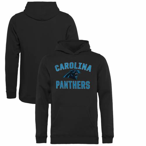 NFL PRO LINE BY FANATICS BRANDED カロライナ パンサーズ 子供用 ビクトリー 黒 ブラック キッズ ベビー マタニティ トップス ジュニア 【 Carolina Panthers Youth Victory Arch Pullover Hoodie - Black 】 Black