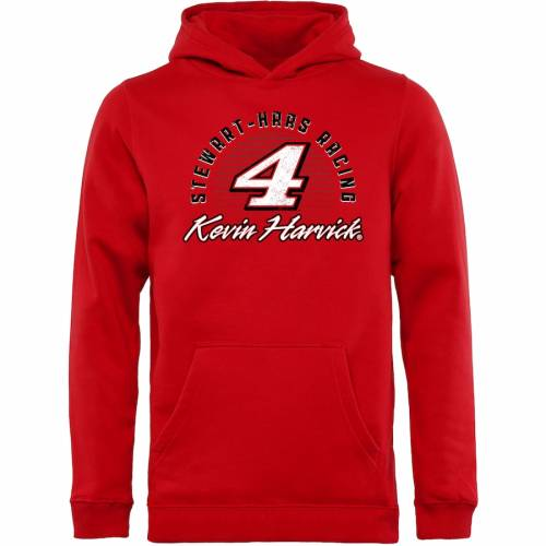 FANATICS BRANDED ケビン 子供用 赤 レッド キッズ ベビー マタニティ トップス ジュニア 【 Kevin Harvick Youth Race Day Pullover Hoodie - Red 】 Red