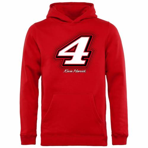 FANATICS BRANDED ケビン 子供用 赤 レッド キッズ ベビー マタニティ トップス ジュニア 【 Kevin Harvick Youth Reverb Pullover Hoodie - Red 】 Red