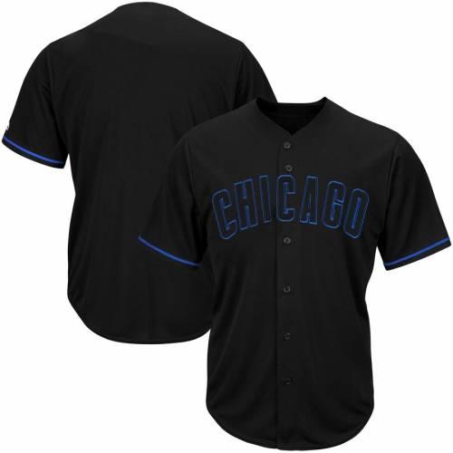 マジェスティック MAJESTIC シカゴ カブス ブイネック ジャージ 黒 ブラック スポーツ アウトドア 野球 ソフトボール レプリカユニフォーム メンズ 【 Chicago Cubs Big And Tall Pop Fashion V-neck Jer