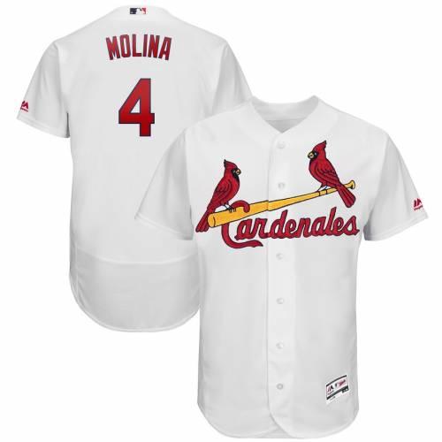 マジェスティック MAJESTIC カーディナルス ジャージ 白 ホワイト St. スポーツ アウトドア 野球 ソフトボール レプリカユニフォーム メンズ 【 Yadier Molina St. Louis Cardinals 2019 Hispanic Heritage F