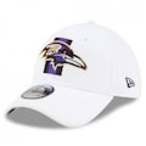 ニューエラ NEW ERA エラ ボルティモア レイブンズ トレーニング 白色 ホワイト ニューエラ ボルチモア メンズ 【 NFL 2021 TRAINING CAMP 39THIRTY FLEX HAT WHITE 】