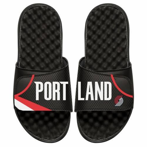 ISLIDE ポートランド 子供用 ジャージ サンダル 黒 ブラック キッズ ベビー マタニティ ジュニア 【 Portland Trail Blazers Youth Away Jersey Slide Sandals - Black 】 Black