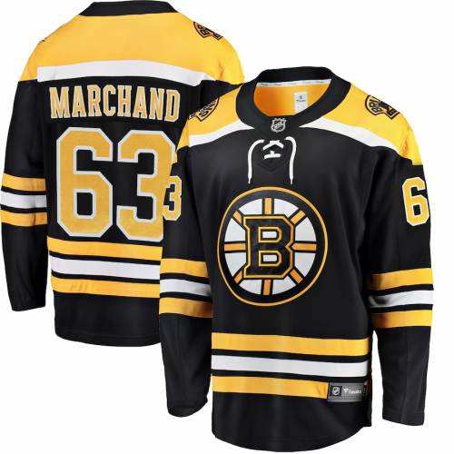 FANATICS BRANDED ボストン ジャージ 【 BRAD MARCHAND BOSTON BRUINS BREAKAWAY PLAYER JERSEY BLACK 】 送料無料