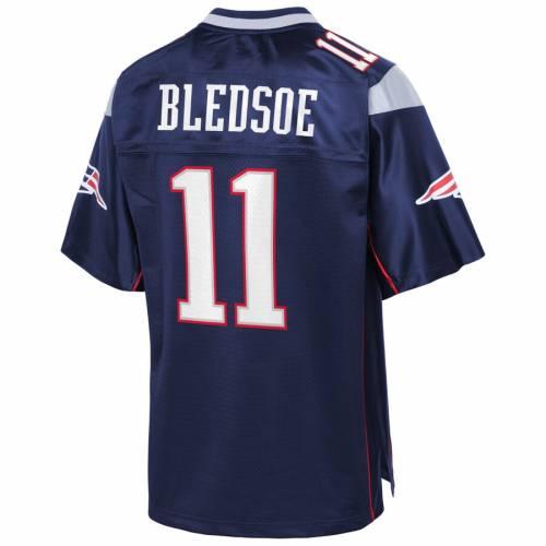 NFL PRO LINE ペイトリオッツ チーム ジャージ 紺 ネイビー スポーツ アウトドア アメリカンフットボール メンズ 【 Drew Bledsoe New England Patriots Retired Team Player Jersey - Navy 】 Navy