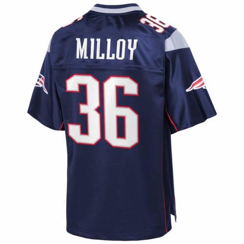 NFL PRO LINE ペイトリオッツ ジャージ 紺 ネイビー スポーツ アウトドア アメリカンフットボール メンズ 【 Lawyer Milloy New England Patriots Replica Retired Player Jersey - Navy 】 Navy