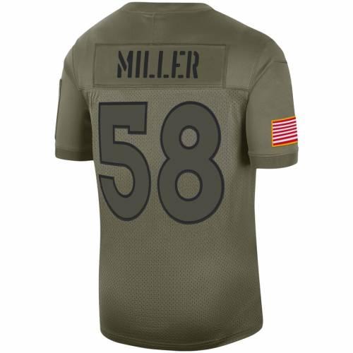 ナイキ NIKE デンバー ブロンコス 子供用 ゲーム ジャージ オリーブ スポーツ アウトドア アメリカンフットボール ジュニア キッズ 【 Von Miller Denver Broncos Youth 2019 Salute To Service Game Jersey -
