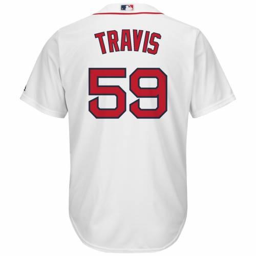 マジェスティック MAJESTIC ボストン 赤 レッド クール ジャージ 白 ホワイト スポーツ アウトドア 野球 ソフトボール レプリカユニフォーム メンズ 【 Sam Travis Boston Red Sox Home Cool Base Replic