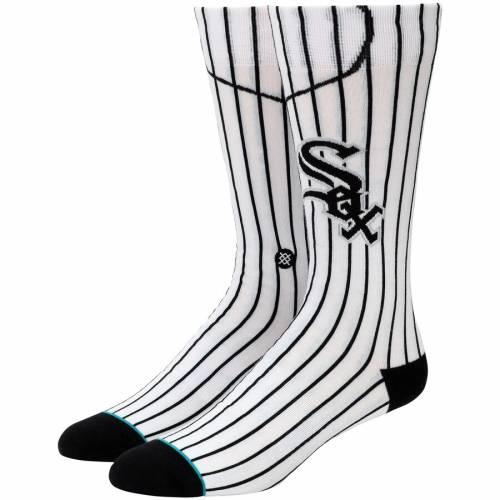 スタンス STANCE シカゴ 白 ホワイト ジャージ ソックス 靴下 インナー 下着 ナイトウエア メンズ 下 レッグ 【 Chicago White Sox Home Jersey Crew Socks 】 Color