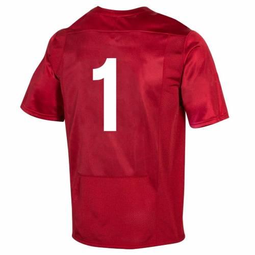 アンダーアーマー UNDER ARMOUR ウィスコンシン カレッジ ジャージ 赤 レッド #1 スポーツ アウトドア アメリカンフットボール メンズ 【 #1 Wisconsin Badgers College Football 150th Anniversary Replica Jers