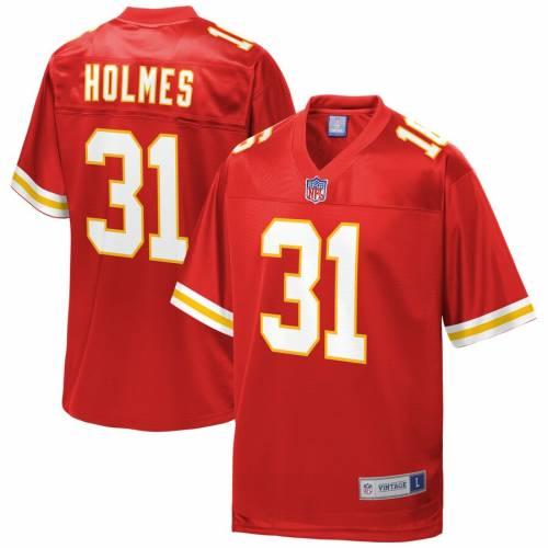 NFL PRO LINE カンザス シティ チーフス ジャージ 赤 レッド スポーツ アウトドア アメリカンフットボール メンズ 【 Priest Holmes Kansas City Chiefs Retired Player Jersey - Red 】 Red