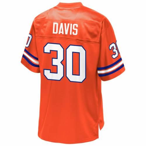 NFL PRO LINE デンバー ブロンコス ジャージ 橙 オレンジ スポーツ アウトドア アメリカンフットボール メンズ 【 Terrell Davis Denver Broncos Retired Player Jersey - Orange 】 Orange