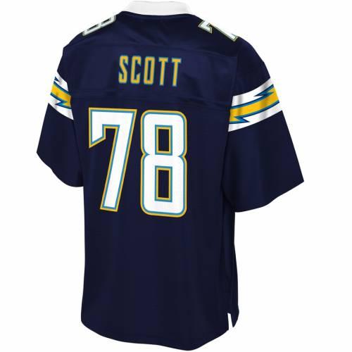 NFL PRO LINE チャージャーズ チーム ジャージ 紺 ネイビー スポーツ アウトドア アメリカンフットボール メンズ 【 Trent Scott Los Angeles Chargers Team Player Jersey - Navy 】 Navy