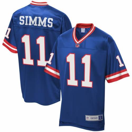 NFL PRO LINE ジャイアンツ ジャージ スポーツ アウトドア アメリカンフットボール メンズ 【 Phil Simms New York Giants Retired Player Replica Jersey - Royal 】 Royal
