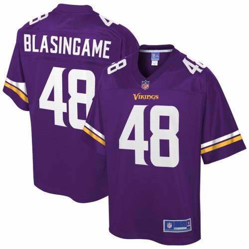 NFL PRO LINE ミネソタ バイキングス チーム ジャージ 紫 パープル スポーツ アウトドア アメリカンフットボール メンズ 【 Khari Blasingame Minnesota Vikings Team Player Jersey - Purple 】 Purple