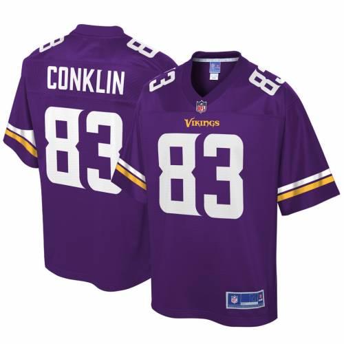 NFL PRO LINE ミネソタ バイキングス ジャージ 紫 パープル スポーツ アウトドア アメリカンフットボール メンズ 【 Tyler Conklin Minnesota Vikings Player Jersey - Purple 】 Purple