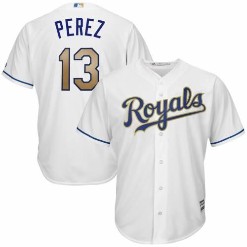 マジェスティック MAJESTIC カンザス シティ ロイヤルズ クール ジャージ 白 ホワイト スポーツ アウトドア 野球 ソフトボール レプリカユニフォーム メンズ 【 Salvador Perez Kansas City Royals 2