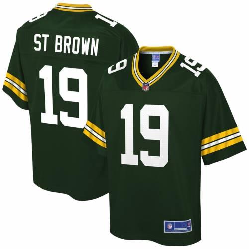 NFL PRO LINE 茶 ブラウン 緑 グリーン パッカーズ ジャージ St. スポーツ アウトドア アメリカンフットボール メンズ 【 Equanimeous St. Brown Green Bay Packers Player Jersey - Green 】 Green