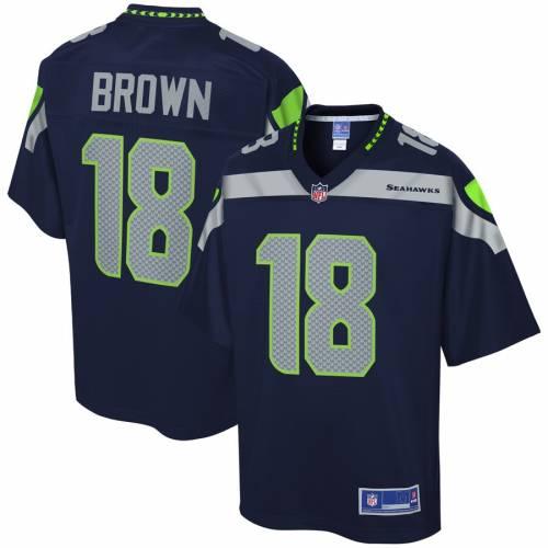 NFL PRO LINE 茶 ブラウン シアトル シーホークス ジャージ カレッジ 紺 ネイビー スポーツ アウトドア アメリカンフットボール メンズ 【 Jaron Brown Seattle Seahawks Player Jersey - College Navy 】 Coll