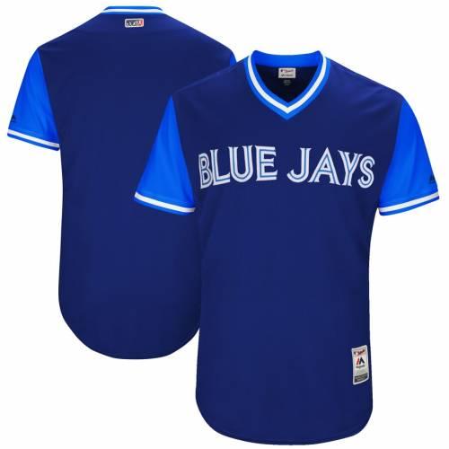 マジェスティック MAJESTIC トロント 青 ブルー オーセンティック チーム ジャージ 紺 ネイビー スポーツ アウトドア 野球 ソフトボール レプリカユニフォーム メンズ 【 Toronto Blue Jays 2017