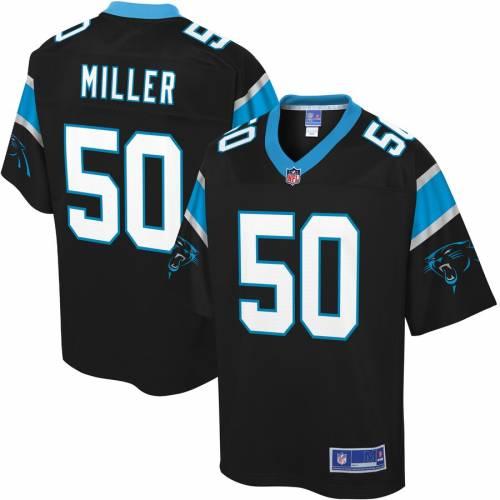 NFL PRO LINE カロライナ パンサーズ ジャージ 黒 ブラック スポーツ アウトドア アメリカンフットボール メンズ 【 Christian Miller Carolina Panthers Player Jersey - Black 】 Black