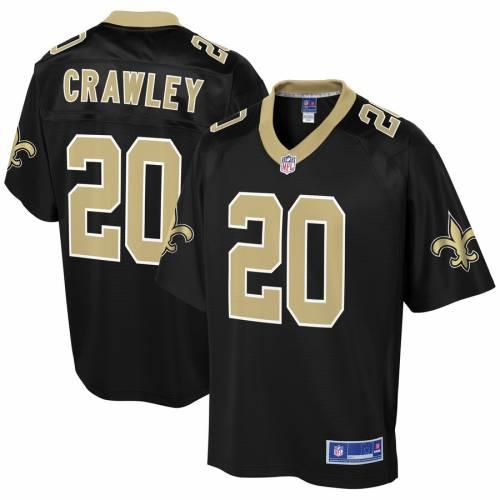 NFL PRO LINE セインツ ジャージ 黒 ブラック スポーツ アウトドア アメリカンフットボール メンズ 【 Ken Crawley New Orleans Saints Player Jersey - Black 】 Black