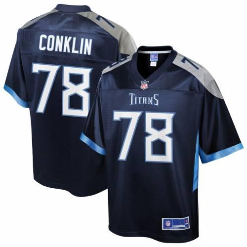 NFL PRO LINE テネシー タイタンズ チーム ジャージ 紺 ネイビー スポーツ アウトドア アメリカンフットボール メンズ 【 Jack Conklin Tennessee Titans Team Player Jersey - Navy 】 Navy
