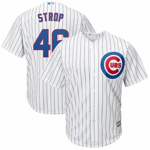 マジェスティック MAJESTIC シカゴ カブス クール ジャージ 白 ホワイト スポーツ アウトドア 野球 ソフトボール レプリカユニフォーム メンズ 【 Pedro Strop Chicago Cubs Home Cool Base Replica Player