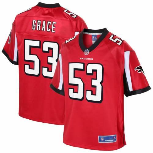 NFL PRO LINE アトランタ ファルコンズ チーム ジャージ 赤 レッド スポーツ アウトドア アメリカンフットボール メンズ 【 Jermaine Grace Atlanta Falcons Team Player Jersey - Red 】 Red
