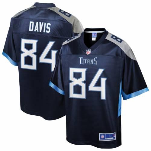 NFL PRO LINE テネシー タイタンズ チーム ジャージ 紺 ネイビー スポーツ アウトドア アメリカンフットボール メンズ 【 Corey Davis Tennessee Titans Team Player Jersey - Navy 】 Navy