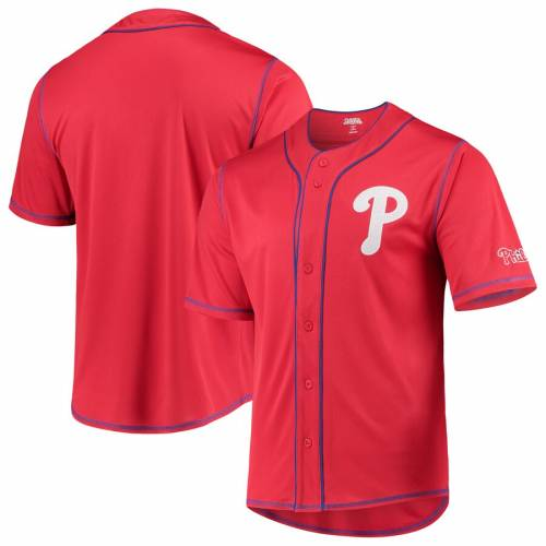 STITCHES フィラデルフィア フィリーズ チーム ジャージ スポーツ アウトドア 野球 ソフトボール レプリカユニフォーム メンズ 【 Philadelphia Phillies Team Color Button-down Jersey - Red/royal 】 Red/roy