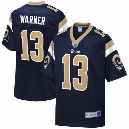 NFL PRO LINE ワーナー ラムズ ジャージ 紺 ネイビー St. スポーツ アウトドア アメリカンフットボール メンズ 【 Kurt Warner St. Louis Rams Retired Player Jersey - Navy 】 Navy