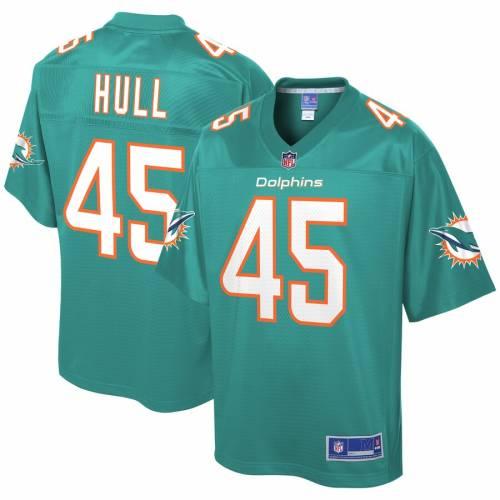 NFL PRO LINE マイアミ ドルフィンズ チーム ジャージ アクア スポーツ アウトドア アメリカンフットボール メンズ 【 Mike Hull Miami Dolphins Team Player Jersey - Aqua 】 Aqua