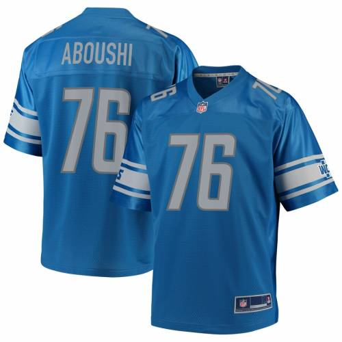 NFL PRO LINE デトロイト ライオンズ チーム ジャージ 青 ブルー スポーツ アウトドア アメリカンフットボール メンズ 【 Oday Aboushi Detroit Lions Team Player Jersey - Blue 】 Blue