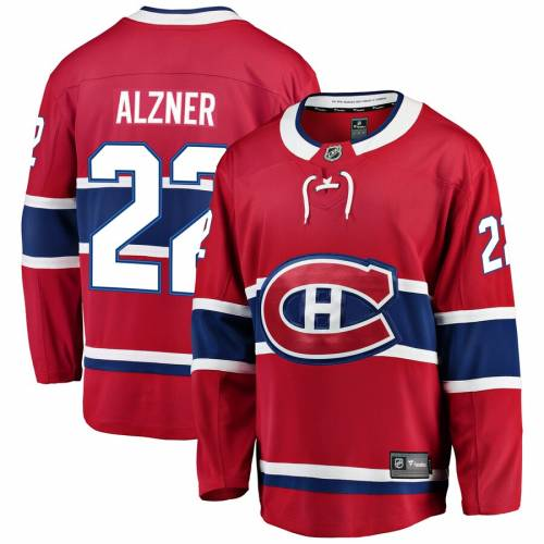FANATICS BRANDED ジャージ 【 KARL ALZNER MONTREAL CANADIENS BREAKAWAY PLAYER JERSEY RED 】 送料無料