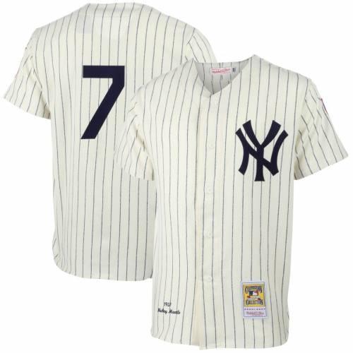 ミッチェル&ネス MITCHELL & NESS ヤンキース オーセンティック ジャージ クリーム & 【 MITCHELL NESS MICKEY MANTLE NEW YORK YANKEES MLB AUTHENTIC JERSEY CREAM 】 スポーツ アウトドア 野球 ソフトボー