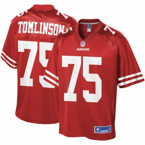 NFL PRO LINE フォーティーナイナーズ チーム ジャージ スポーツ アウトドア アメリカンフットボール メンズ 【 Laken Tomlinson San Francisco 49ers Team Player Jersey - Scarlet 】 Scarlet